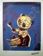 Drums, Clockwork (jaune, rose) Sérigraphie signée dans la planche Numérotée 2615 sur 5000 par l'éditeur 32 x 21 cm