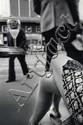Michel Jaget Paris. Terrasse au printemps. Tirage argentique d'époque et montage d'origine. Signature sur le montage. Numéroté 37/100. Circa 1981.
