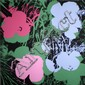 Flowers (bleu & vert & rose) Sérigraphie en couleur Edition Sundy B Morning 91 x 91 cm