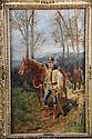 Guido SIGRISTE (1864-1915) Hussard du Ve régiment (hussard de lauzin) Huile sur toile Signé en bas à droite 64 x 38,5 cm (manques & craquelures)