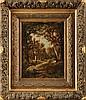 Camille MAGNUS (1850-?)  Fagotière en forêt Huile sur panneau Signé et daté 82 en bas à droite 35,5 x 26,5 cm  Oil on panel, Signed and datede 82 lower right, 13,9 x 10,4 in.