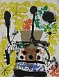 Joan MIRO (1893-1983)  ALBUM 19, PLANCHE 4, 1961 (Maeght, 247)  Lithographie en couleurs sur vélin de Rives  Monogrammé et numéroté 59/75 Maeght Editeur et Imprimeur  51 x 61 cm