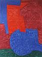 Serge POLIAKOFF (1900-1969) Composition en rouge, bleu et vert Lithographie Signé en bas à gauche dans la planche, marqué en bas à droite