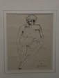 André Albert Marie DUNOYER DE SEGONZAC (1884-1974)  Femme nue Dessin à l'encre Signé en bas à droite 23 x 18 cm