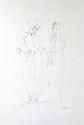 Léonor FINI (1908-1996) Trois femmes Encre de Chine sur papier. Signé en bas à droite (52x37cm)
