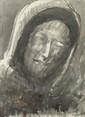 Adolphe PETERELLE (1874-1947) Visage du Christ, de la Vierge, et des compagnons d'Emmaus Encre et lavis sur papiers signés 31 x 22 cm et 38 x 29 cm