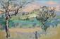 Pierre BOCHOT (1906-1995) Eygalières le soir Huile sur toile 58 x 90 cm