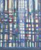 Manuel CARGALEIRO (né en 1927) Matin musical Huile sur toile Signé en bas à droite, contresignée, intitulé et daté 1980 53 x 45 cm