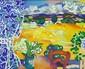 CHARON (né en 1927) Paysage provençal Huile sur toile Signé en bas à droite 54 x 65 cm