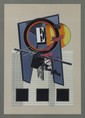Alain LE YAOUANC (né en 1940) Composition abstraite Lithographie Signé en bas à droite hors planche et numéroté en bas à gauche 51/160 41 x 34 cm