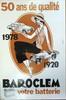 Affiche publicitaire Baroclem de 1978 célébrant le cinquantenaire de la marque, encadrée, 60 x 40 cm