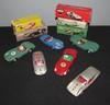 SOLIDO : Lot comprenant une Ferrari 500 TRC ; une Jaguar type D ; une DB Panhard Le Mans ; une Porsche GT Le Mans ; une Aston Martin 3 L et une Abarth 1000