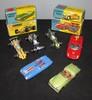 CORGI TOYS : Lot comprenant deux Cooper Maserati F1 ;  une Lotus Climax F1 ; une Triumph TR3 ; une Ferrari 250 Le Mans et une Lotus Mark II Le Mans