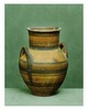 Chypre, VIème siècle avant J.-C.  VASE à anses céramique à décor de cercles concentriques noirs.  H. 17,5 cm