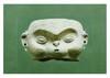 Équateur, la Tolita, Période classique 100-500 après J.-C.  MASQUE aux joues gonflées (souffleur). Terre cuite grise.  Plus grande H. 8,5 cm - Plus grande largeur. 13,5 cm