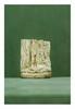 Égypte, époque Ptolémaïque.  STÈLE fragmentaire. Schiste gris inscrit, côté, base et son  revers. Elle représente Horus sur des crocodiles.  Plus grande H. 7,5 cm - Plus grande Larg. 6 cm