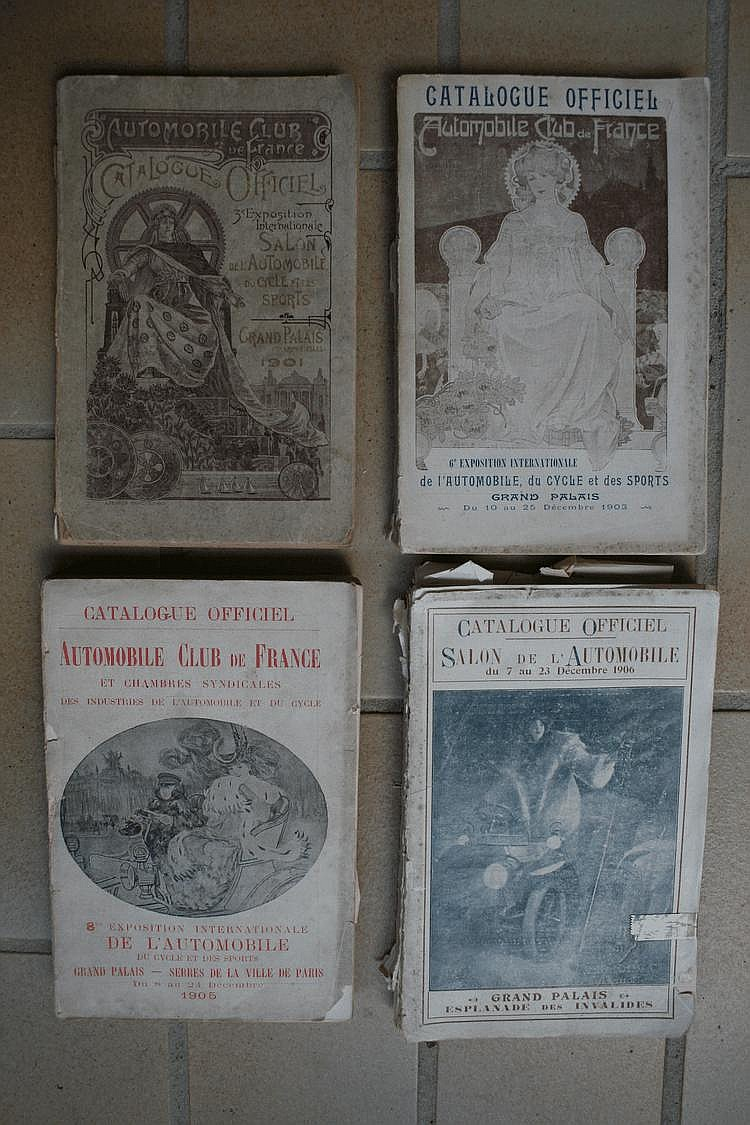 A.C.F, Automobile Club de France, Catalogue officiel du Salon de l'Automobile, du Cycle et des Sport, années 1901 et 1905.
