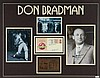 Don Bradman display comprising signature on 1992