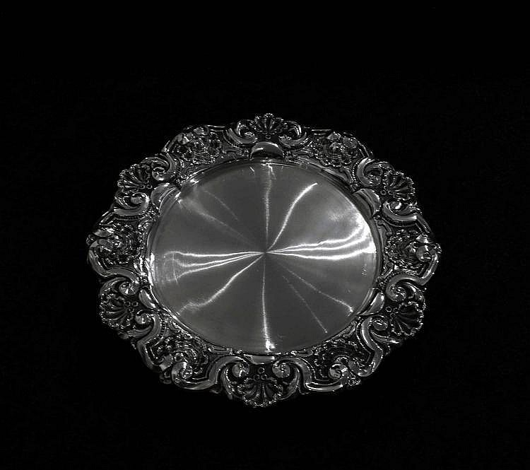 SILVER VISITING-CARD SALVER
