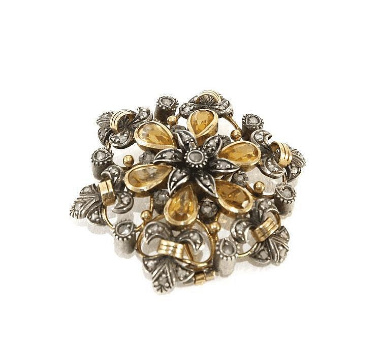GOLD AND SILVER BROOCH