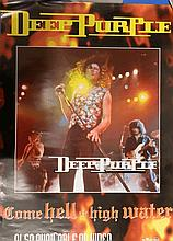 DEEP PURPLE ORIGINAL POSTER COME HELL OR HIGH WATER