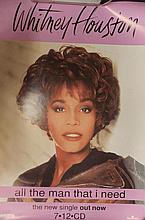 WHITNEY HOUSTON ORIGINAL POSTER ALL THE MAN I NEED