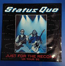 Status Quo 1992 world tour programme company collection.
