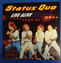 Status Quo 1993 world tour programme company collection.
