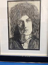 QUEEN Brian May signed portrait