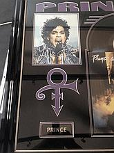 Prince Signed photo display
