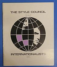 Paul Weller The Style Council 1985 Tour Programme