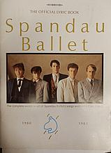 SPANDAU BALLET RARE LYRIC BOOK WITH PRODUCTION NOTES