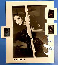 LATOYA JACKSON signed photo and 3 Professional Transparencies