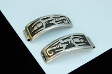 Vintage 10.5g Sterling Silver Navajo Lizard Watch Tips