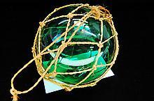 Vintage Green Japanese 5 Inch Fishing Float