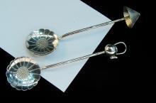 Vintage 15g 950 Silver Oriental Spoon Lot Of 2