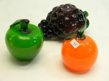 Molded Colorful Glass Fruit Home Decoration Lot