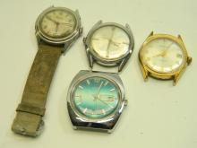 Chalet Waltham & Robot Mens Dress Watch Lot Of 4