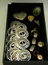 Western Style Concho & Costume Jewelry Lot Of 19