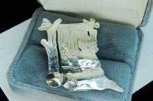 8g Sterling Silver Native Weaver Brooch