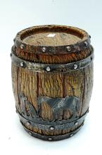 Western Style Praying Cowboy Barrel Cookie Jar