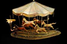 Horse Carousel Metal Home Decoration