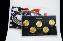 2001 Gold Edition State Quarter US Coin Set
