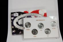 2004 Platinum Edition State Quarter US Coin Set
