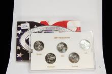 2007 Platinum Edition State Quarter US Coin Set