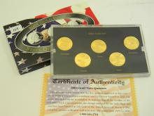 2004 Gold Edition State Quarter US Coin Collection
