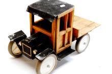 Handcrafted Folk Art Old Model Toy Truck