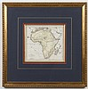 JEAN BAPTISTE POIRSON ENGRAVING ON PAPER - Antique map, engraved and hand-colored, entitled