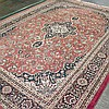 CARPET: HANDWOVEN INDO-KASHAN - Wool on a cotton warp with central square medallion surrounded by multiple floral and foliate forms...
