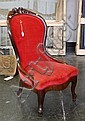 Mahogany parlor side chair